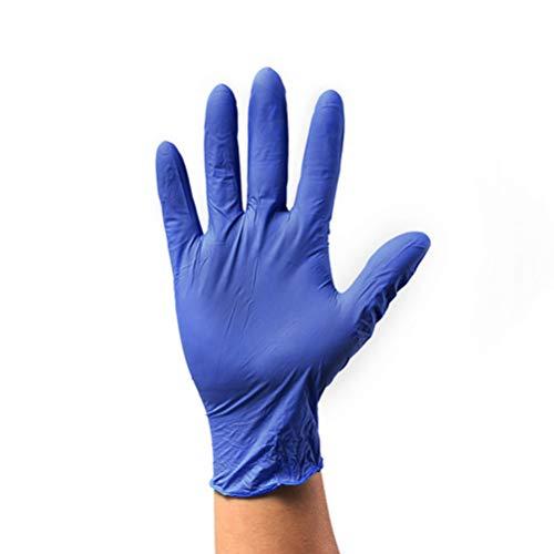 Milisten Guanti Chirurgici Monouso in Gomma Nitrile 60 Pezzi Guanti Blu Protettivi Guanti Protettivi per Ospedale Guanti Chirurgici - Taglia M