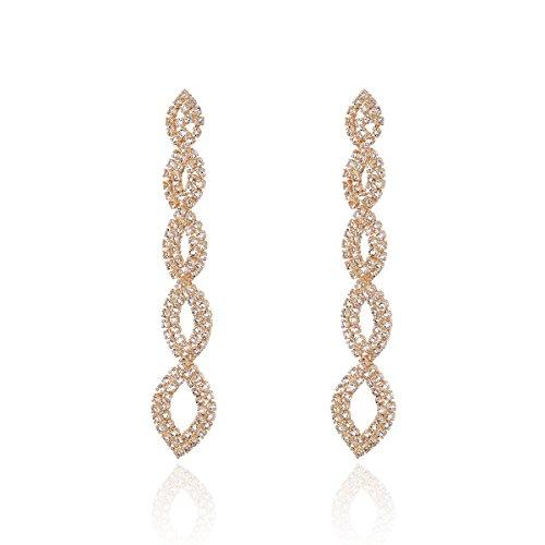 Pendientes de mujer, colgantes de cristal en espiral de rayas bohemias, pendientes de oro, regalos encantadores y de moda