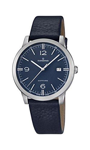 Candino Reloj Hombre de Cuarzo con Esfera Analógica Azul Pantalla y Correa de Piel Color Azul C4511/2