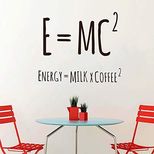 Milch Kaffee Wandaufkleber Lustige Parodie Einstein Relativitätstheorie Physikalische Formel Vinyl Aufkleber Schlafzimmer Wohnzimmer Toilette Café Bar Home Decoration Wandbild Poster