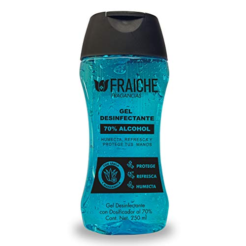 Gel Antibacterial Fraiche con 70% alcohol 250 ml