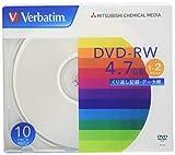 三菱ケミカルメディア データ用DVD-RW 4.7GB 1-2倍速 DHW47N10V1 1パック(10枚)
