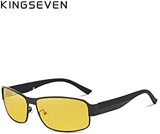 KINGSEVEN Yellow Polarized Sunglasses Men Women Night Vision Goggles Driving