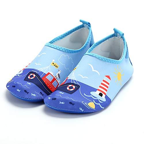 QXue Zapatos de Deportes Acuaticos Barefoot niño Zapatillas de Trail Running Minimalistas Zapatillas de Deporte Exterior Interior,34 EU