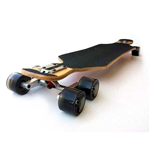 Genric (Set of 2) Black Tandem Axle Wheel Kit Set for Skateboard Cruiser Longboard Truck