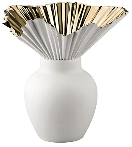 Rosenthal Studio-Line 14438-426157-26027 Vase/Blumenvase - Falda - Bisquitporzelan - Gold titanisiert - Höhe 27 cm