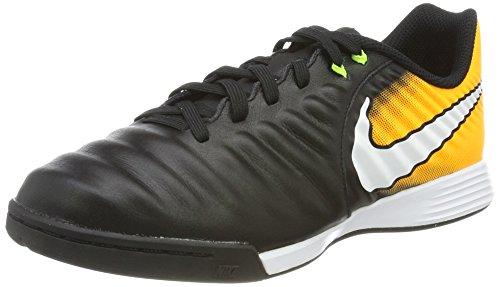 Nike Jr. TiempoX Ligera IV IC Zapatillas de Fútbol para niños, Negro (Black/white/laser Orange/volt), 33.5 EU