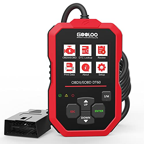 GOOLOO OBD2 Scanner Code Reader for Check Engine Light Car Diagnostic Tool Emission Analyzer , Auto Scan Tool DT60 for All OBDII Vehicles Since 1996