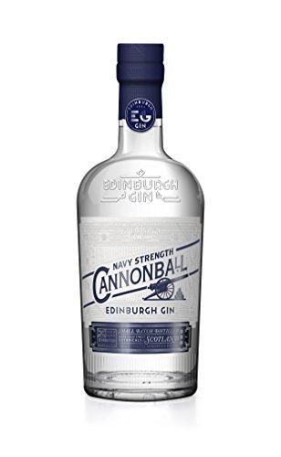 Edinburgh Gin Cannonball - Gin in Navy Stärke - besonders geeignet für Genießer von starken Gin Tonics, (1 x 0.7 l)