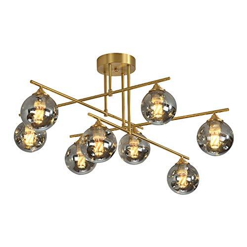 Modernen Netto-rotlampen,Vollkupfer Deckenleuchte,Wohnzimmer Schlafzimmer Esszimmer Kronleuchter,Kreativ Dekorative Lamps-Kupfer- Und Rußabdeckung 8 Kopf