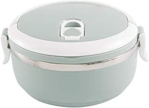 WZHZJ Stackable Stainless Steel Thermal Compartment Lunch Box   3-Tier Insulated Bento Box (Size : A)