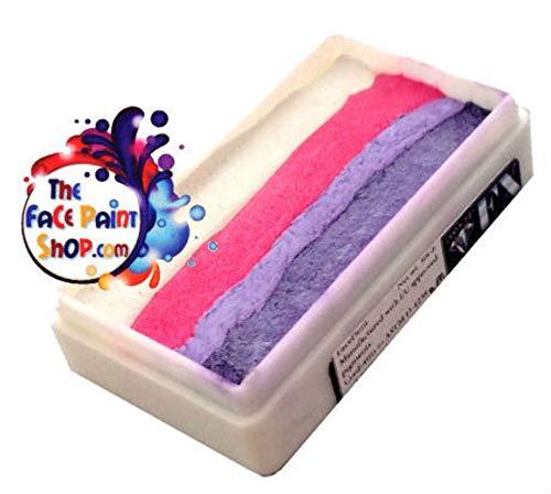 Diamond FX 28gm Split Cake/One stroke Face paint ~ Cotton Candy (rs30–9) By Diamond FX Split Cakes