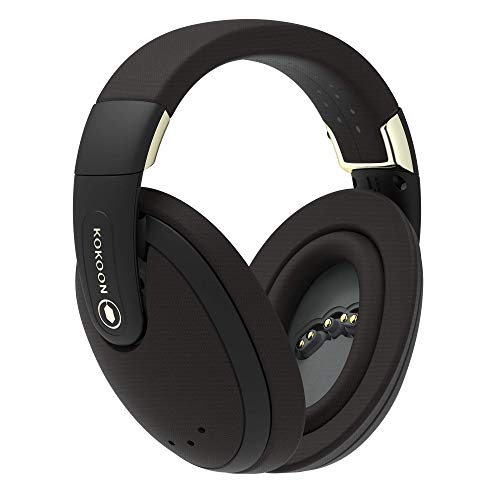 Kokoon Sleep Headphones - Over Ear Wireless Noise Protection Headphones - Perfect for Bedtime, Travel and Meditation - App for Sleep Music and Mindfulness Audio - Black