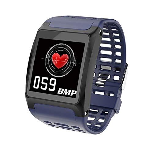 QCHNES Smart Herren-Sportuhr, OLED-Bildmonitor, Pulsmesser, Smartwatch Waterproof Herren-Fitnessuhr, Digitaluhren, Big Data Cloud Service