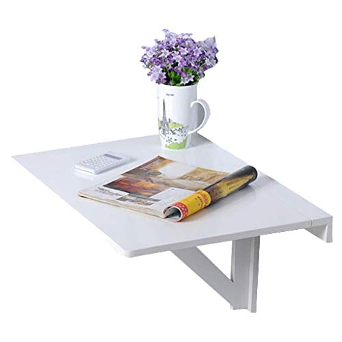Wall Mounted Floating Folding Table, Drop-Leaf Dining Table Desk, Wooden Desk for Office Home Kitchen, Floating Table Space Saving Hanging Table for Study, Bedroom