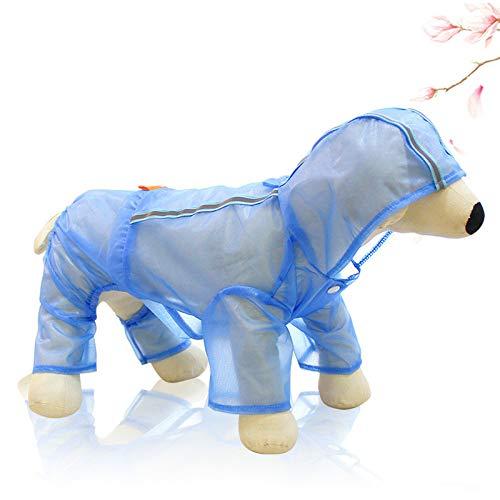 nobrand YYGUI Hond Vierbenige Waterdichte Regenjas Lichtgewicht Ademende Zonnescherm Poncho Hooded Huisdier Kleding