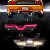REAMIC Luci di Guida A LED Lampada di Stop Luce di Stop A LED Luce di Retromarcia 3 Funzioni Luce di Avvertimento per Mustang,2015-2017