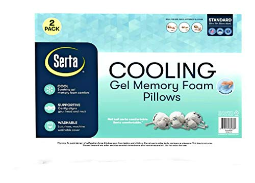 serta Gel Memory Foam Cluster Pillows, Set of 2