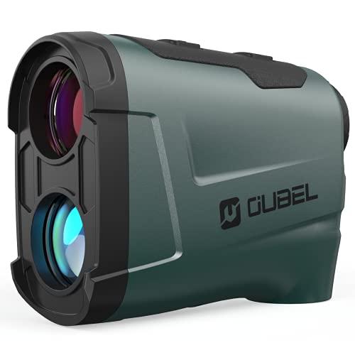 OUBEL Telemetro Golf, 800 Yard Telemetro Caza, 6 X & 4 Modes, Bloqueo del Poste de La Bandera, Vibración, Modo de Escaneo, Rastreo de Presas, Telémetro Láser de Golf de con inclinación