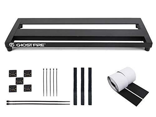Ghost Fire Guitar Pedal Board Aluminum Alloy Effect Pedalboard,V series (V-LITTLE 20-PB(20''x7''))