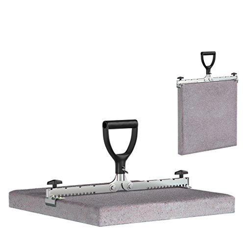 LANGFIT® Plattenheber mit normalem Griff - 30 bis 50cm - Senkrechtes und Waagerechtes anheben - Tragkraft bis 60kg - Made in Germany - MS-PH2050K