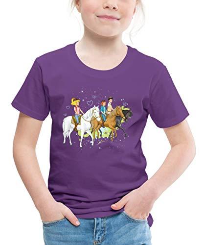 Bibi Und Tina Ausritt Mit Alexander Falkenstein Kinder Premium T-Shirt, 122/128 (6 Jahre), Lila