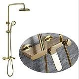 Manyao Conjunto de Ducha de Oro Europea y Modelos estadounidenses Agua Caliente y fría Válvula de Mezcla de baño de Cobre de Alta Final Grifo de la Ducha Hermosa práctica