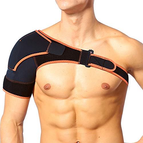 Support d'épaule réglable Bretelle Sangle Joint Sport Gym Compression Wrap Bandage Idéal pour les hommes et les femmes Sports