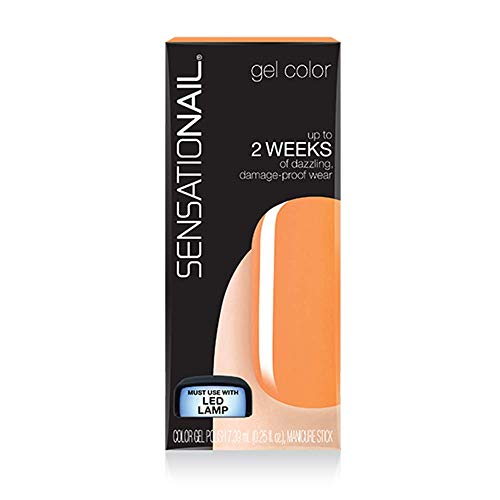 Sensationail Gel Nail Polish, Orange Fizz, 7.39ml, At Home-Gel Polish