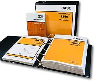 Case 1840 Uni-Loader Skid Steer Service Parts Operator Manual Shop Book Ovhl