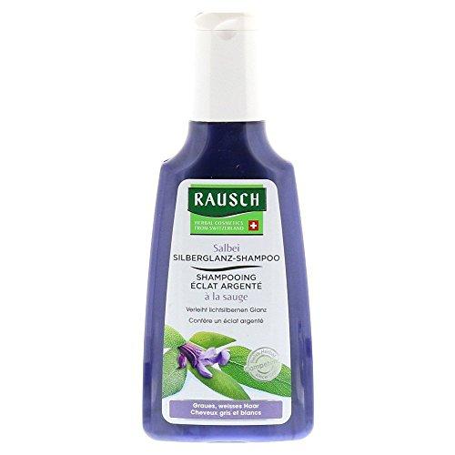 Rausch Salbei Silberglanz-Shampoo (wirkt nachhaltig dem Gelbstich entgegen für natürlichen Glanz, ohne Silikone und Parabene-Vegan), 1er Pack (1 x 200 ml)