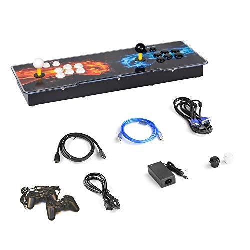 ARCADORA 4 jugadores 2413 en 1 3D Pandora Box Key 7 Retro Arcade Console Machine Añadir juegos USB Gamepad Joystick y botones para el hogar