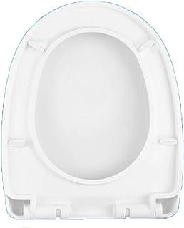 Mtg Abattant de WC avec abattant de WC Anti-bactérien Ultra résistant pour siège de Toilette en Forme de V/U, Blanc A (34-...