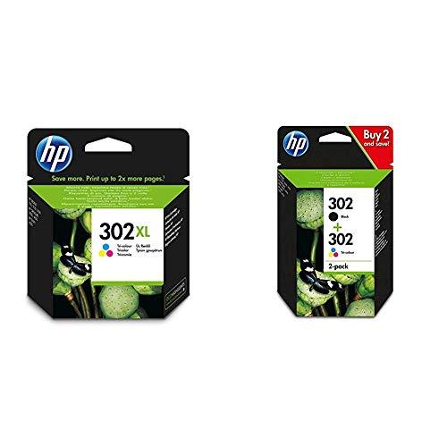 Cartuchos HP 302 XL | Tinta original HP tamaño XL en negro y tricolor, oferta 3 unidades