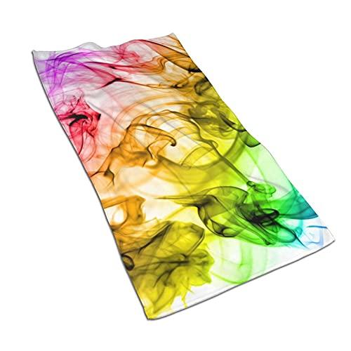 Il fumo si avvolge in un asciugamano da bagno al neon luminoso 70 x 40 cm Asciugamani ad asciugatura rapida Asciugamano regalo per viaggi sportivi Fitness