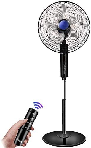 YYhkeby Acondicionadores de Aire Ventilador de Piso Ventilador de Escritorio Control Remoto Mute Tipo de pie Sacudida Ventilador de la Cabeza Alluminum Shell Motor Jialele