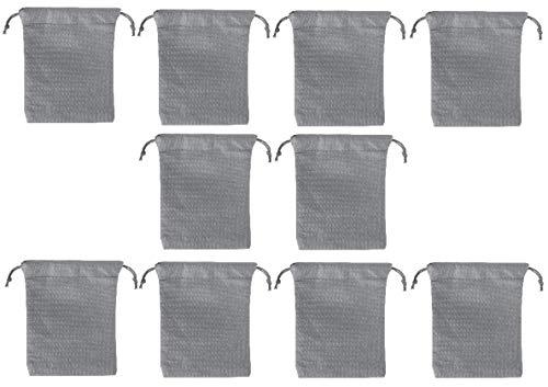 sin4sey Set van 10 geschenkzakjes cadeauzakjes met trekkoordjes, adventskalender, zakjes van niet-geweven stof