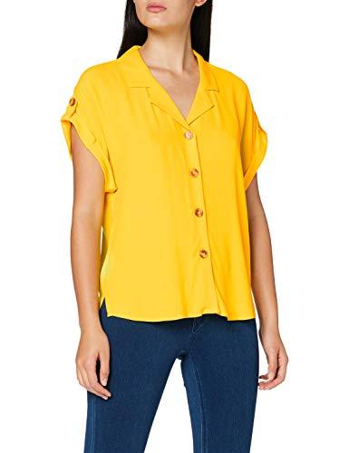 Esprit 070EE1F301 Blusas, 750/amarillo, 44 para Mujer