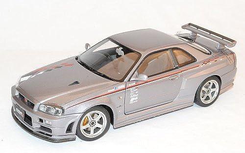 AUTOart Nissan Skyline GT-R S-Tune R34 S1 Grau Coupe 1998-2002 77358 1 18 Modell Auto mit individiuellem Wunschkennzeichen