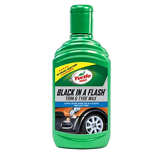 Turtle Wax 52812 Black In A Flash Restorer For Exterior Plastic & Tyres 300ml