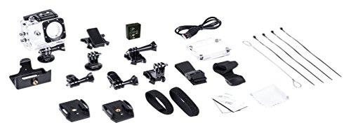 Midland C1245 Set Accesorios videocámara H5 (Funda, batería, esqueletor, Base Plana y Curva), Negro