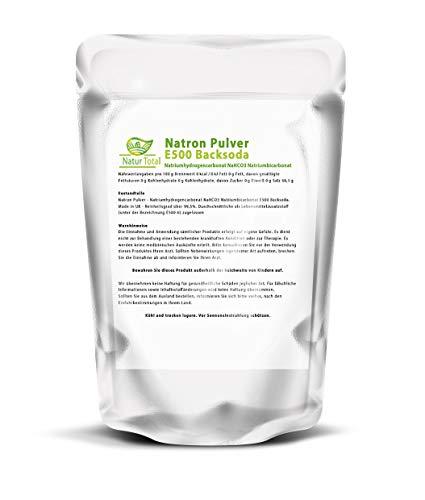 Natron Pulver 2500g Lebensmittelqualität: Natriumhydrogencarbonat NaHCO3 Natriumbicarbonat E500 Backsoda (2500g) Natrium Fussbad, Basenbad, Kosmetik Waschsoda Backing Soda