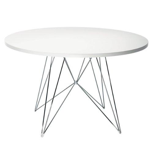magis TAVOLO XZ3 rund xz 3 chrom Platte weiss Designer tisch