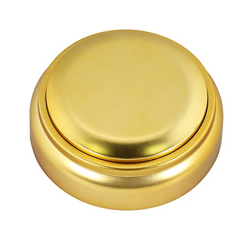 Neutral Sound Talking Button - Recording Your Voice Button- Answer Buzzer -30 Seconds Recording- Easy Press Button with High Sound Quality (Gold)