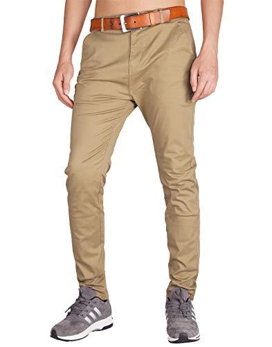 ITALY MORN Pantalones Chinos Hombre Slim Fit Algodón Pantalon Chino de Trabajo 26 Colores