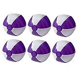 noTrash2003 Juego de 6 pelotas hinchables para playa, playa, piscina, color morado