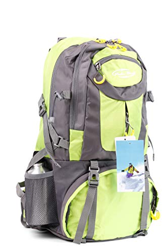 Mediablue 50L Bergsteigen Backpack Outdoor Leicht Rucksack Klettern Wanderrucksack Reise Sport Tagesrucksack Camping Trekkingrucksack Fahrrad (Grün, 50 Liter)