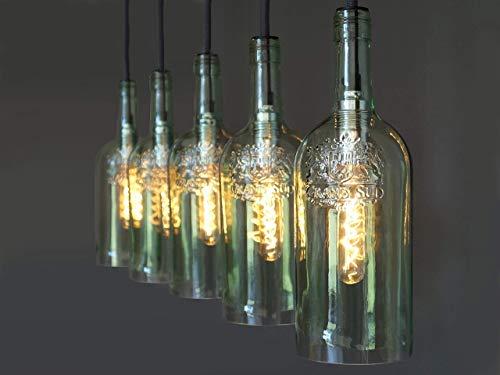 """Vintage Flaschenlampe Hängelampe """"cinco"""""""