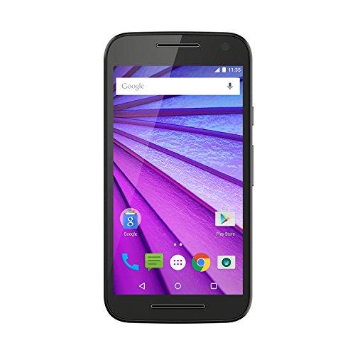 moto G 3. Generation Smartphone (12,7 cm (5 Zoll) Touchscreen-Bildschirm, 16 GB Speicher, Android 5.1.1) schwarz