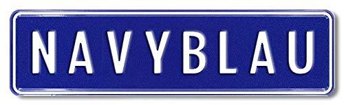 Bobby Car Kettcar Tretauto Namensschild Junior Kennzeichen Kidsplate BobbyCar nach ihrem Wunsch geprägt Größe 340mm x 90mm (Navyblau)